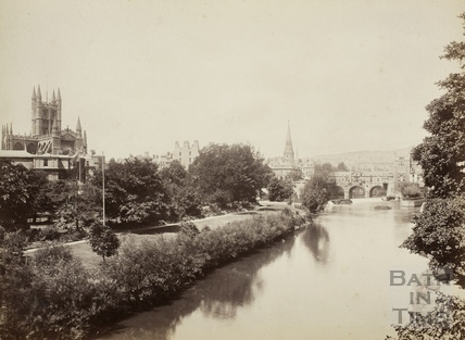 View from the North Parade Bridge, Bath c.1890