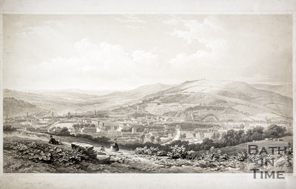 Bath from Sham Castle 1850
