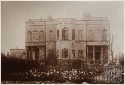 Demolition of Bathwick Villa, Bathwick, Bath 1897