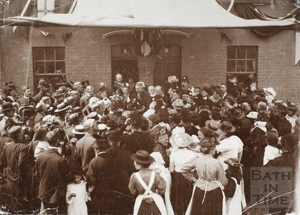 The opening of new housing in the Dolemeads, Widcombe, Bath 1901
