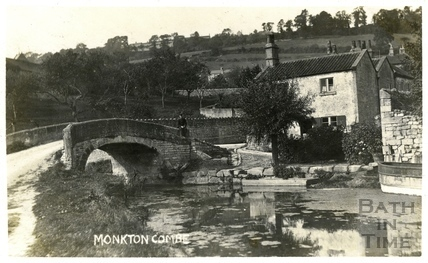 Mill Lane Bridge and Somersetshire Coal Canal, Monkton Combe c.1904