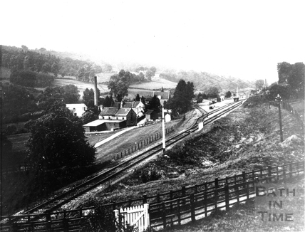 Freeman's Mill and the Camerton to Limpley Stoke railway line, Monkton Combe 1910
