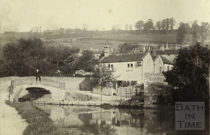 Canal bridge and Canal Cottage, Mill Lane, Monkton Combe c.1880