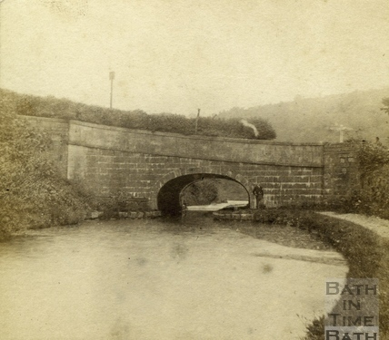 The Somersetshire Coal Canal tunnel under the A36 at the Viaduct, near Limpley Stoke c.1880