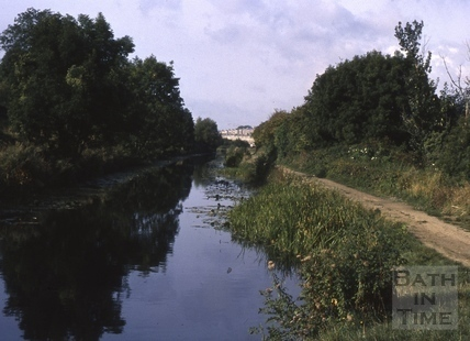 River Avon at Grosvenor, Bath 1975