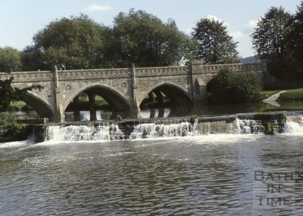 The Toll Bridge and weir, Bathampton c.1975