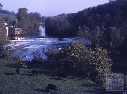 The weir and mill, Avoncliff 1976