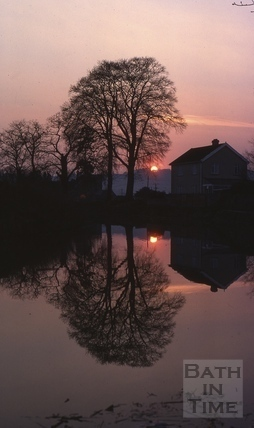 Sunset at Kennet and Avon Canal, Bathampton 1980