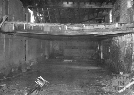 Interior of malthouse, Monkton Combe Brewery, Monkton Combe 1966