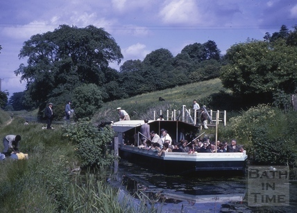 Passenger boat on the Kennet and Avon Canal near Bathampton c.1964