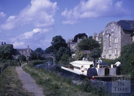 Passenger boat on the Kennet and Avon Canal, Bath c.1964