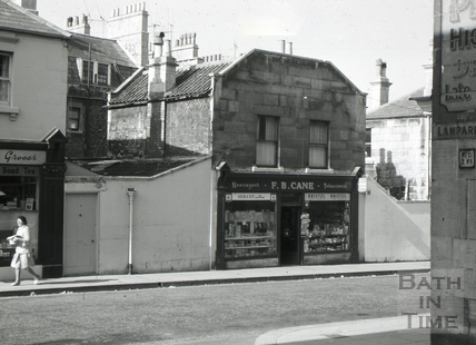 F. B. Cane, newsagent and tobacconist, 3, Rivers Street Place, Julian Road, Bath 1966