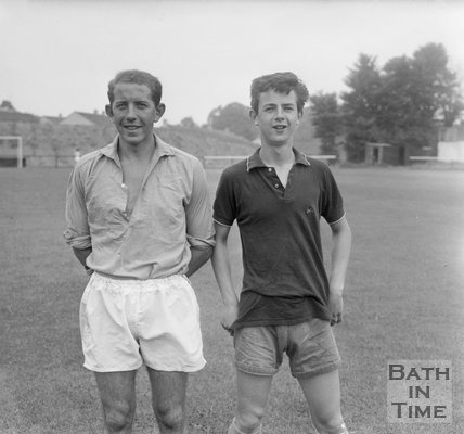 Keith Sanderson and Michael McPhillips of Bath City Football Club, c.1962