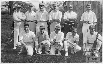 An unidentified cricket team, local to Bath, c.1950s