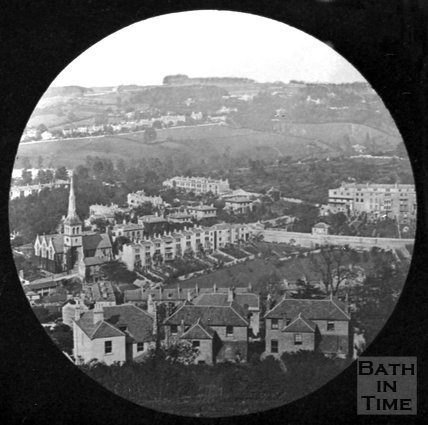 View of Widcombe looking towards Bathwick, c.1880
