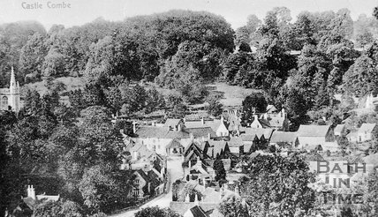 View of Castle Combe, Wiltshire, c.1920