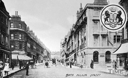 View up Milsom Street, Bath, c.1900
