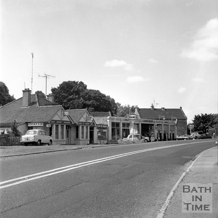 The Green Lantern Cafe and garage, Bathford, Batheaston Relief Road affected areas, 14 July 1971