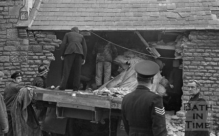 Runaway lorry crash into Brow Hill House, Northend, Batheaston, 21 March 1972