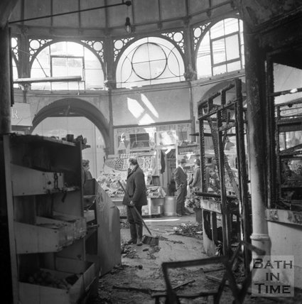 The fire at the Guildhall Market, 25 April, 1972