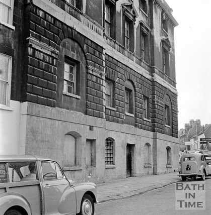 The old prison on Grove Street, Bath, 15 September 1965