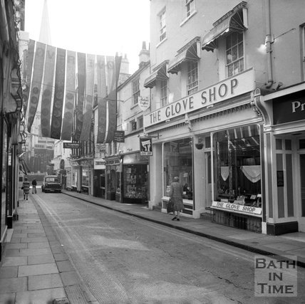 Green Street shops, Bath, 24 August 1973