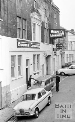 Browns Garage, Grove Street, Bath, 1 November 1973