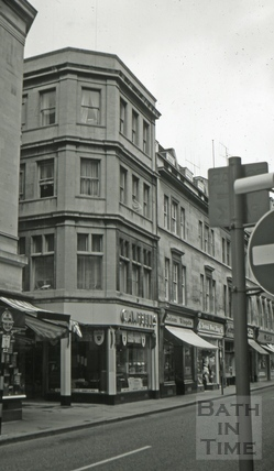Campbell's furnishing store, 2, Cheap Street, Bath 1966