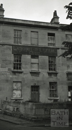 The Larkhall Liberal Club, 1, Brookleaze Place, Larkhall, Bath 1966