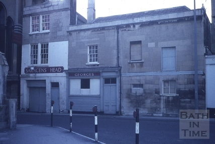 The Saracen's Head from Walcot Street, Bath 1965