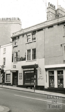 The Queen Square Wine and Spirit Vaults, 11, Chapel Row, Bath 1965