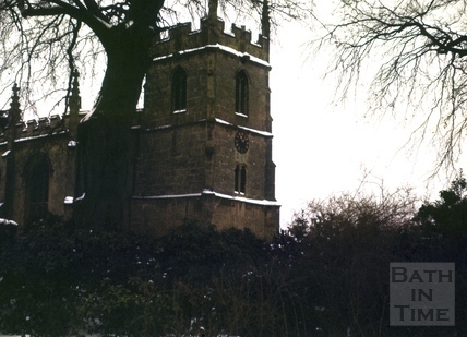 All Saints' Church, Weston, Bath from the vicarage 1963