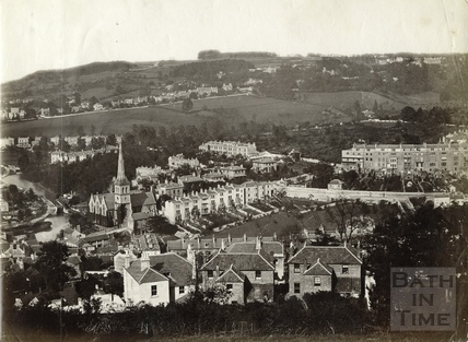View of Widcombe from Alexandra Park, Bath c.1890