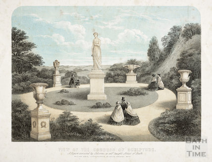 View of the Goddess of Sculpture, Victoria Park, Bath c.1835
