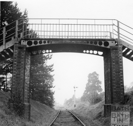 Cast iron footbridge over the G.W.R. line at Monkton Combe 1951