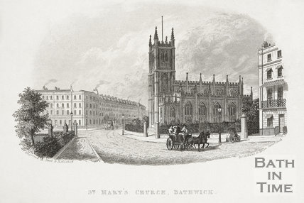 St. Mary's Church, Bathwick, Bath c.1825