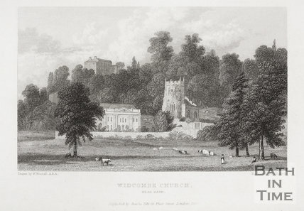 Widcombe Church, Bath 1830
