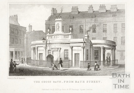 The Cross Bath from Bath Street, Bath 1829