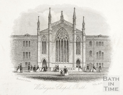 Wesleyan Chapel, New King Street, Bath c.1850