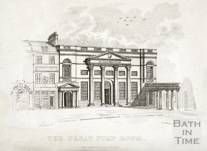 The Great Pump Room, Bath 1821