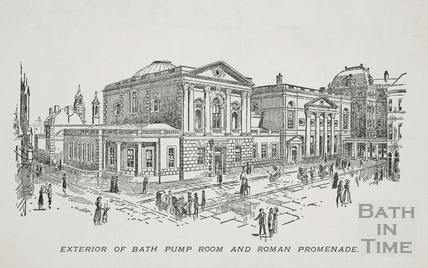 Exterior of the Bath Pump Room and Roman Promenade, Bath c.1900