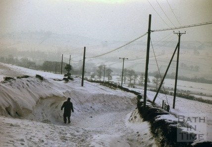 Snow drift near Bath 1963