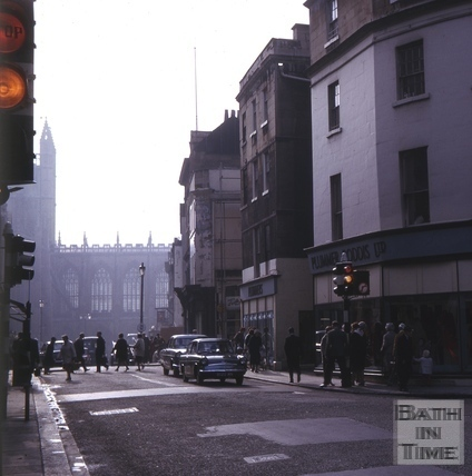 Northgate Street and High Street, Bath 1965