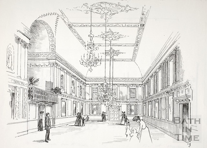Inside the Assembly Rooms, Bath c.1890-1920