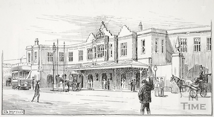 The Great Western Railway Station, Bath c.1904-1920