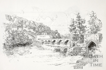 Bathampton Toll Bridge and Batheaston Mill c.1910