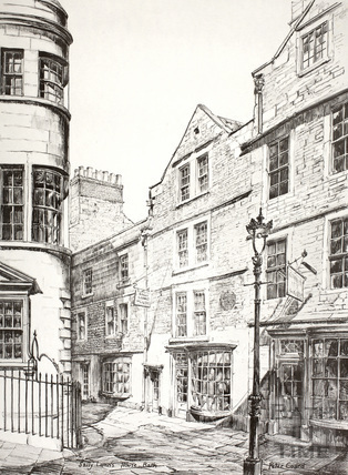 Sally Lunn's House, North Parade Passage (Lilliput Alley), Bath c.1978