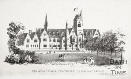 Royal School for Daughters of Officers of the Army, Lansdown, Bath c.1880