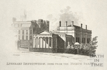 Bath Royal Literary and Scientific Institution, seen from the North Parade, Bath 1834