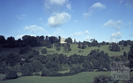 View across the Midford Valley to Midford Castle c.1960